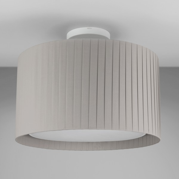 Astro Semi Flush Unit Indoor Ceiling Light in Textured White