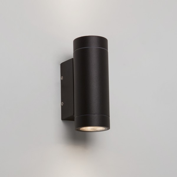 Astro Dartmouth Twin Textured Black Outdoor LED Wall Light