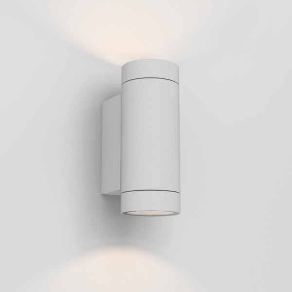 Astro Dartmouth Twin Textured White Outdoor Wall Light