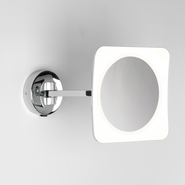 Astro Mascali Square Polished Chrome LED Bathroom Mirror Light
