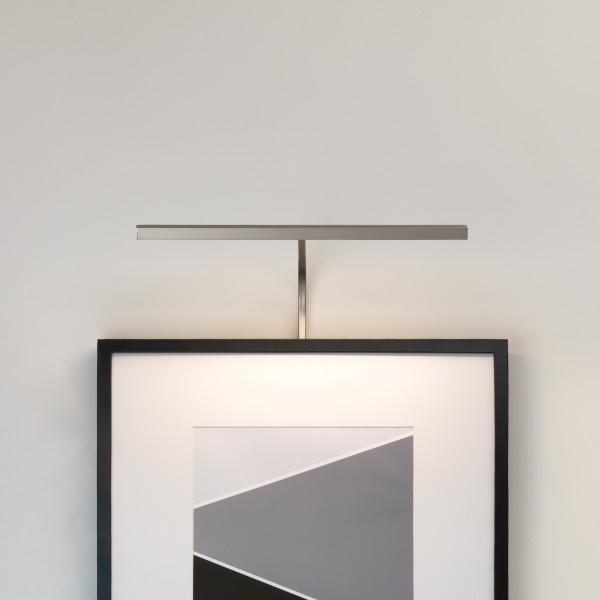 Astro Mondrian 400 Frame Mounted Matt Nickel LED Picture Light