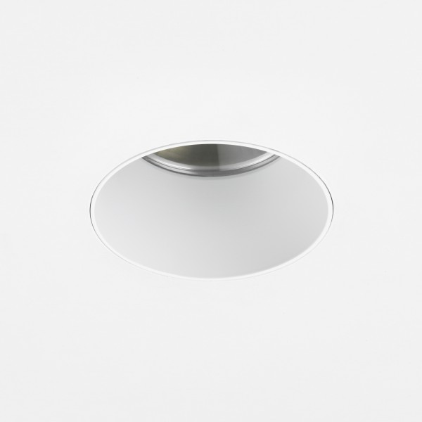 Astro Void Round 80 3000K Matt White Bathroom LED Downlight with 25° Beam, 93CRI