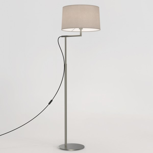 Astro Telegraph Matt Nickel Floor Lamp