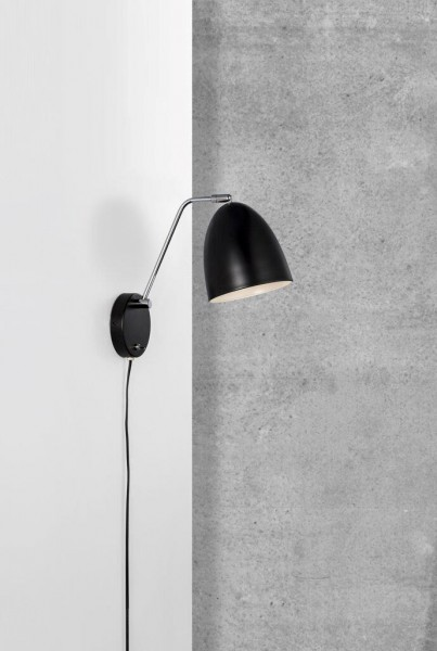 Nordlux 48621003 Alexander Black Wall Light