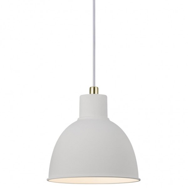 Nordlux 48733001 Pop Rough White / Brass Pendant Light