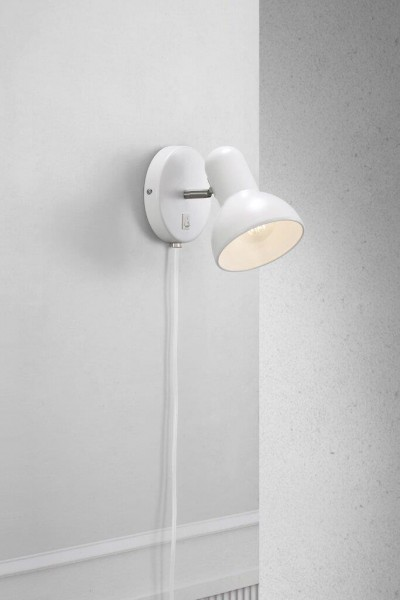 Nordlux 47141001 Texas White Wall Light