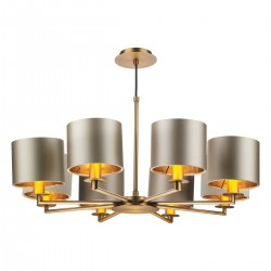 The Light Shade Studio REX0863 Rex 8 Light Pendant Bronze