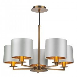 The Light Shade Studio REX0563 Rex 5 Light Pendant Bronze