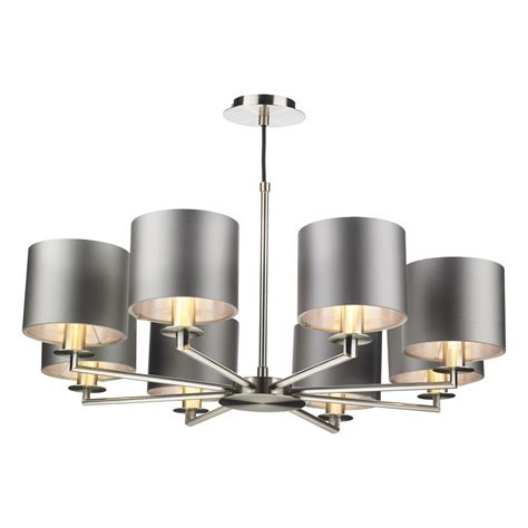 The Light Shade Studio REX0838 Rex 8 Light Pendant Satin Nickel