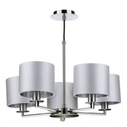 The Light Shade Studio REX0538 Rex 5lt Pendant Satin Nickel