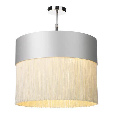 The Light Shade Studio GAT5016-GD-F15 Gatsby Fringe Pendant Shade Swan/Gold
