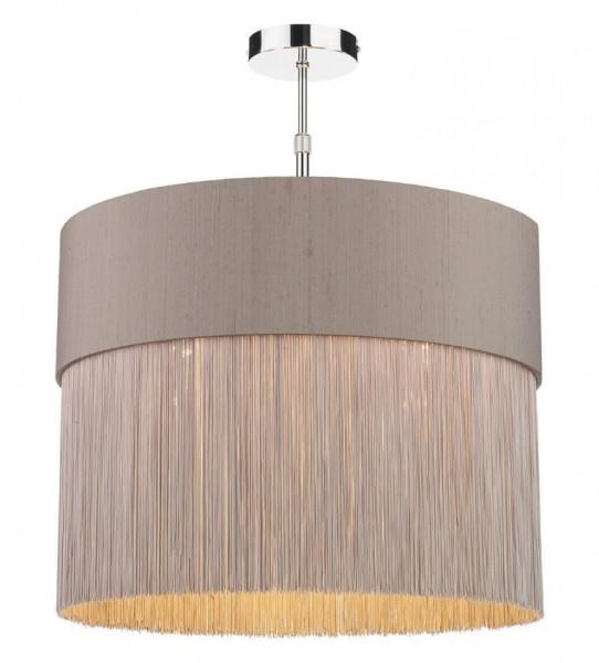 The Light Shade Studio GAT5072-BZ-F39 Gatsby Fringe Pendant Shade Truffle/Bronze