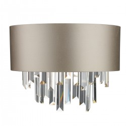 The Light Shade Studio HUR0950-18-BZ Hurley 2 Light Wall Washer Almond cream/Bronze