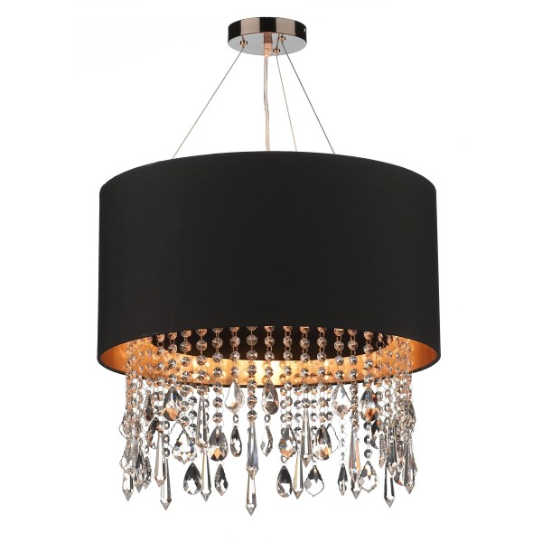 The Light Shade Studio LIZ0122-GD Lizard Shaded Chandelier Black/Gold