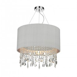 The Light Shade Studio LIZ0139-SI Lizard Shaded Chandelier Silver Grey/Silver