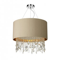 The Light Shade Studio LIZ0101-BZ Lizard Shaded Chandelier Taupe/Bronze