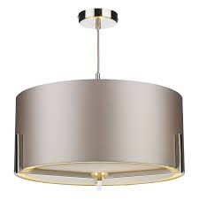 David Hunt HUX0346-21 Huxley 3 Light Pendant Satin Chrome/Graphite
