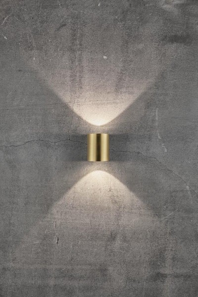 Nordlux 49701035 Canto 2 Brass Wall Light