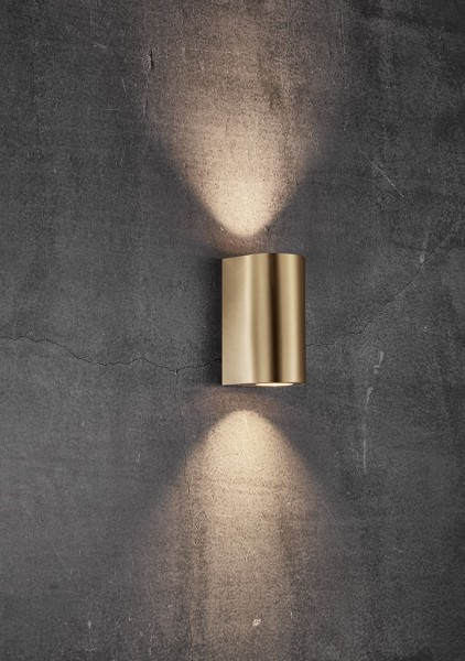 Nordlux 49721035 Canto Maxi 2 Brass Wall Light