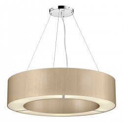 The Light Shade Studio POL0601 Polo 85cm 6 Light Pendant Taupe