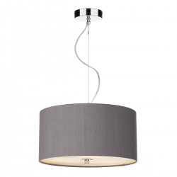 The Light Shade Studio REN1037 Renoir 40cm 3 Light Pendant Charcoal