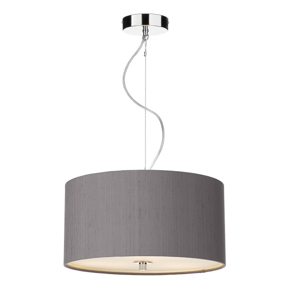 The Light Shade Studio REN1037 Renoir 40cm 3 Light Pendant Charcoal