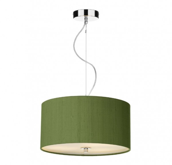 The Light Shade Studio REN1076 Renoir 40cm 3 Light Pendant Olive Green