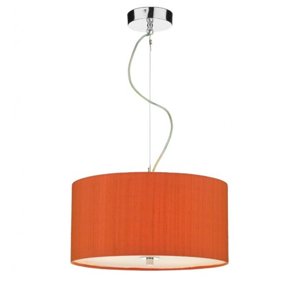 The Light Shade Studio REN1011 Renoir 40cm 3 Light Pendant Firefly Orange