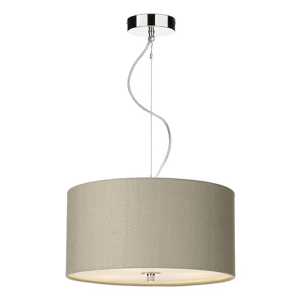 The Light Shade Studio REN1001 Renoir 40cm 3 Light Pendant Taupe