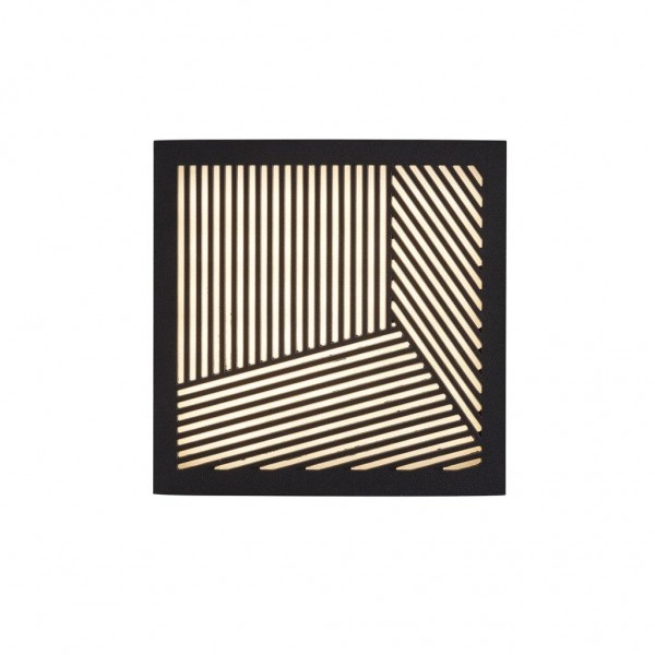 Nordlux 46871003 Maze Straight Black Wall Light