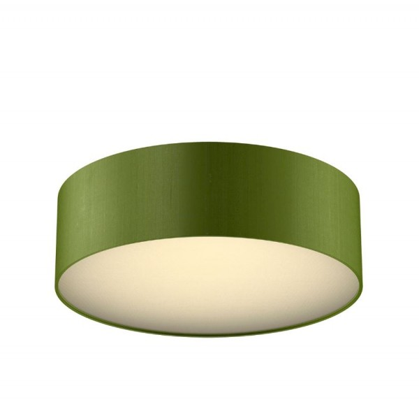 The Light Shade Studio PAO5076 Paolo Bespoke 50cm 3 Light Ceiling Flush Olive Green