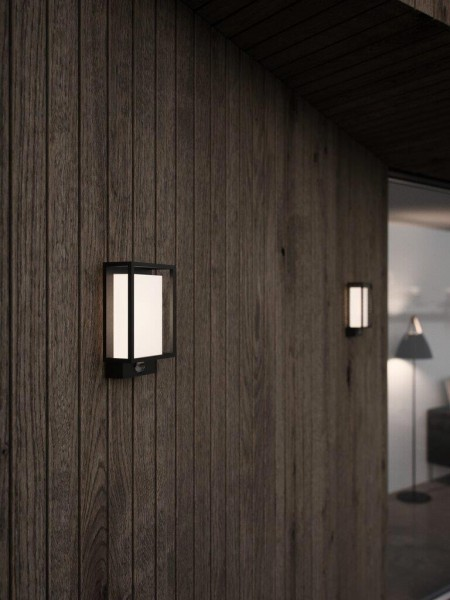 Nordlux 49051503 Nestor Sensor Black Garden Wall Light