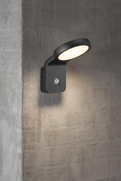 Nordlux 46831003 Marina Flatline PirSensor Black Wall Light