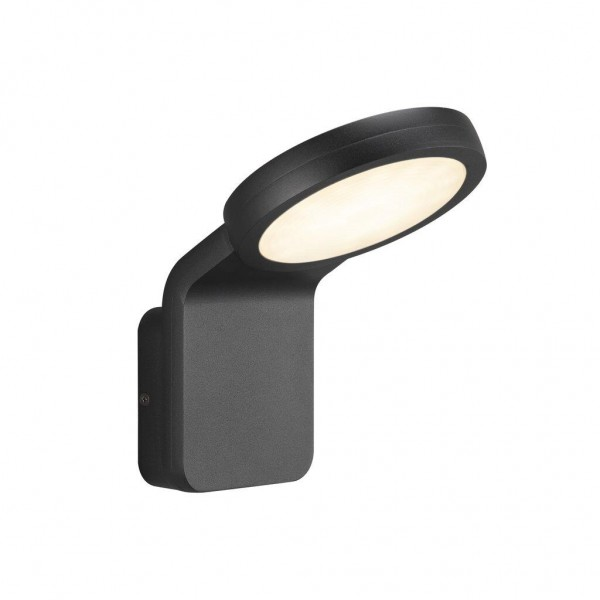 Nordlux 46841003 Marina Flatline TwilightSensor Black Wall Light