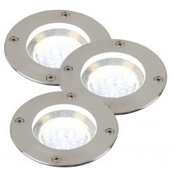 Nordlux 96430034 Tilos Round 3-Kit Stainless Steel Ground Light
