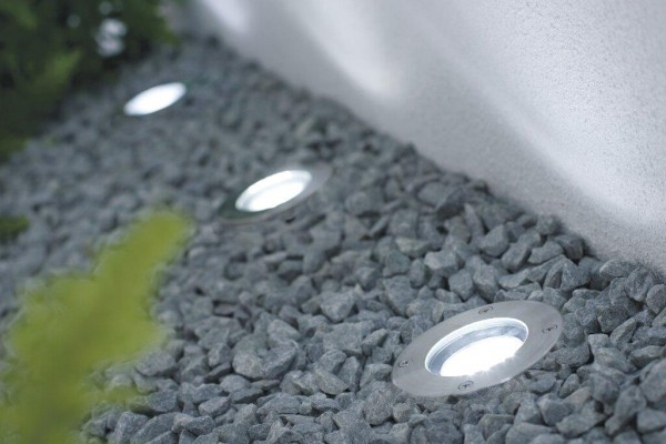 Nordlux 96430034 Tilos Round 3-Kit Stainless Steel Ground Light