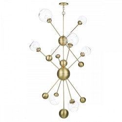 David Hunt COS0840 Cosmos 8 Light Pendant Butter Brass