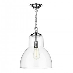David Hunt UPT0150 Upton Polished Chrome Glass Pendant