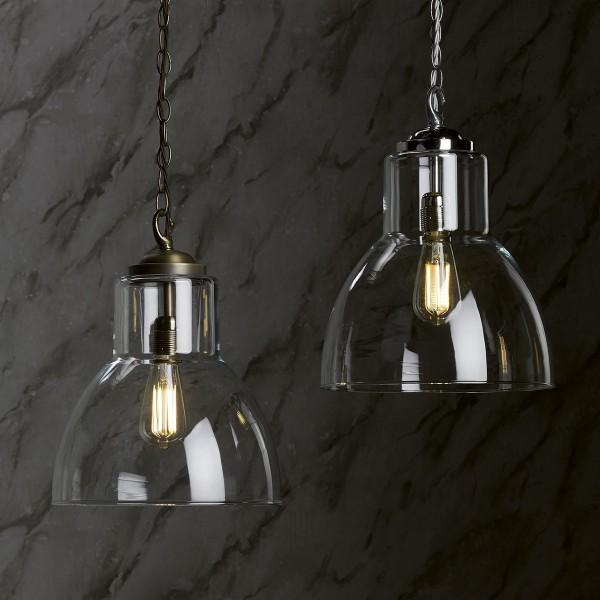 David Hunt UPT0175 Upton Antique Brass Glass Pendant