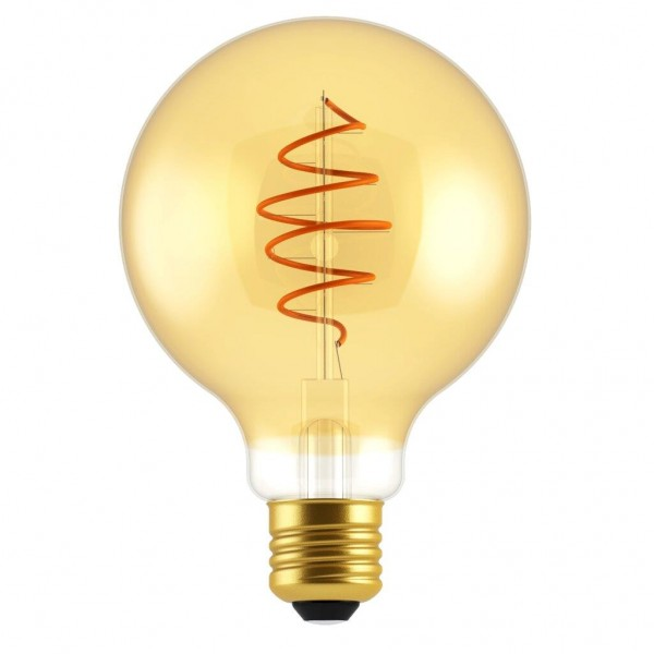 Nordlux 2080182758 Spiral Deco Globe E27 LED Golden Finish