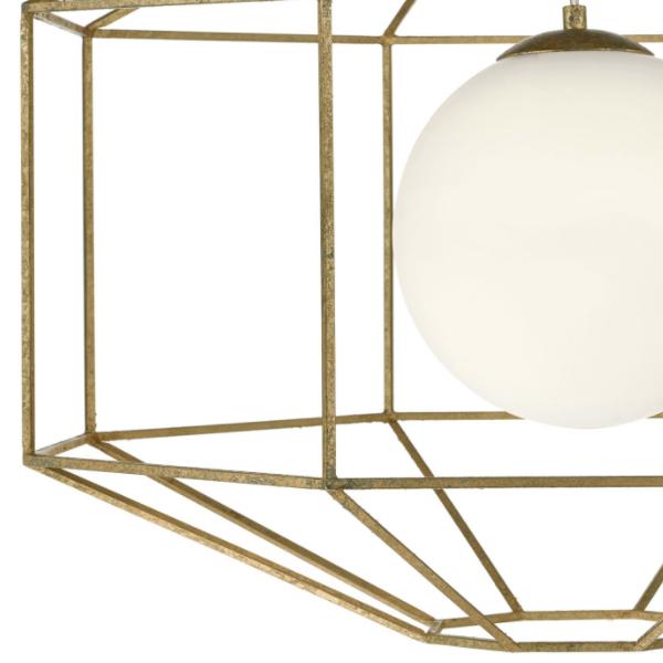 Dar Lighting IZM0135 Izmir 1 Light Hexagonal Pendant