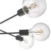 Dar Lighting ALA0622 Black 6 Light Pendant