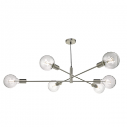Dar Lighting ALA0646 Alana Chrome 6 Light Pendant