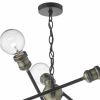 Dar  Lighting BRI0654 Brigade 6 Light Pendant