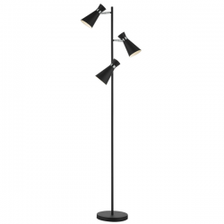Dar Lighting ASH4922 Ashworth 3 Light Floor Lamp
