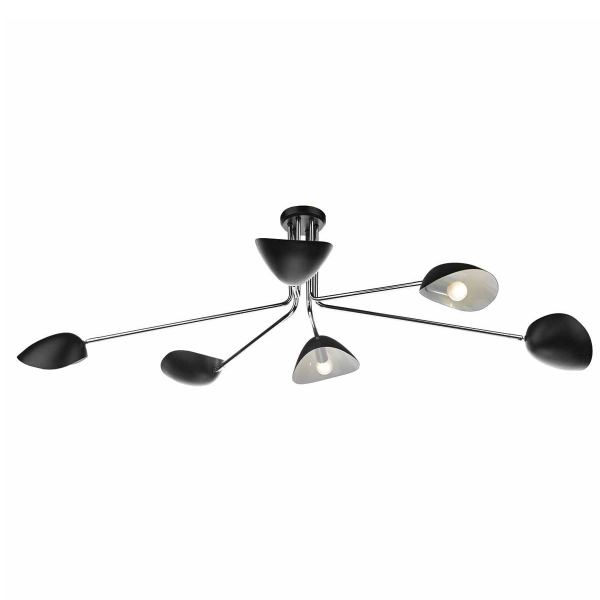 Dar Lighting KRU6422 Krug 6 Light Pendant