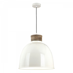 Dar Lighting APH0133 Aphra 1 Light Pendant in Cream