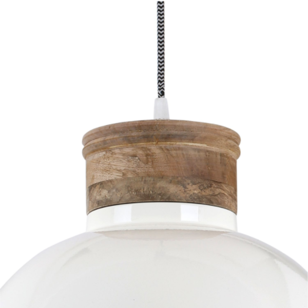 Dar Lighting APH0133 Aphra 1 Light Pendant in Cream