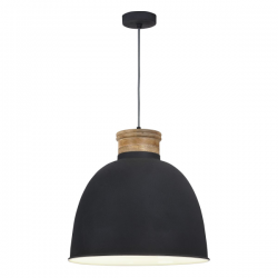 Dar Lighting APH0139 Aphra 1 Light Pendant in Grey