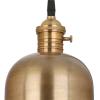 Dar Lighting ROD0175 Rodrigo Pendant in Antique Brass